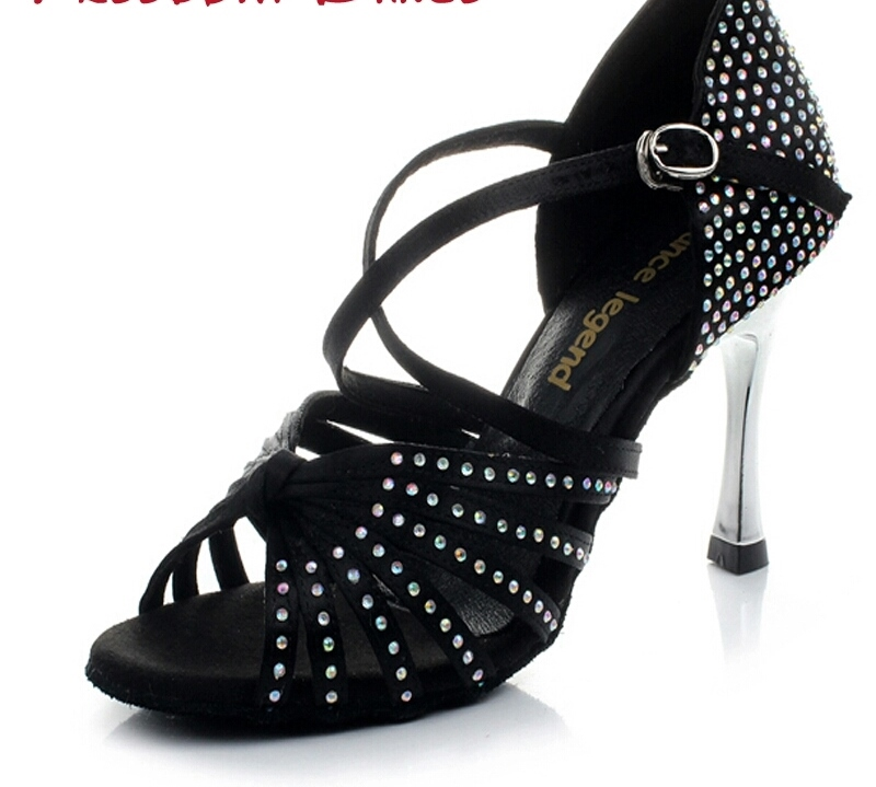 STARRY NIGHT (Black) - Professional 8.5cm Heel $120 includes Heel Protector