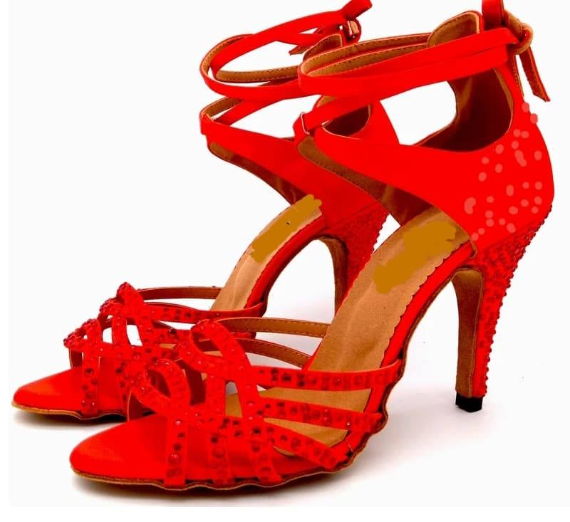 GLAM (red) - Customizable Heel $120 *SALE 8.5cm Heel size 6.5 $80