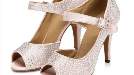 Latin Dance Shoes Customizable Heel $120