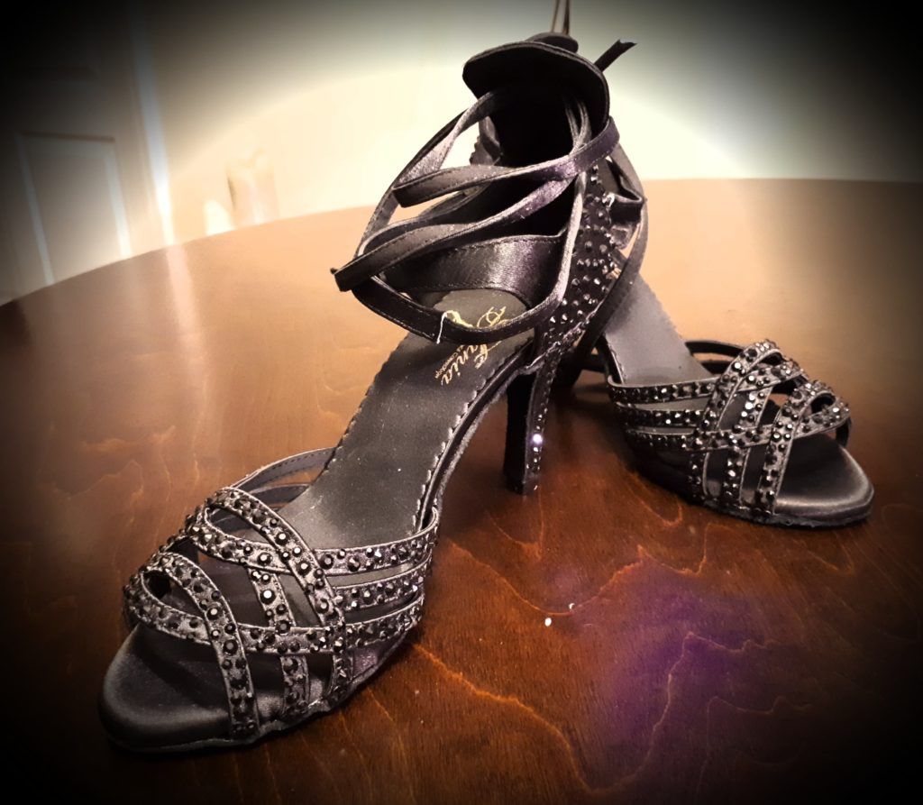 GLAM (black) - Customizable Heel $120 *SALE 8.5cm Heel Size 7 $80