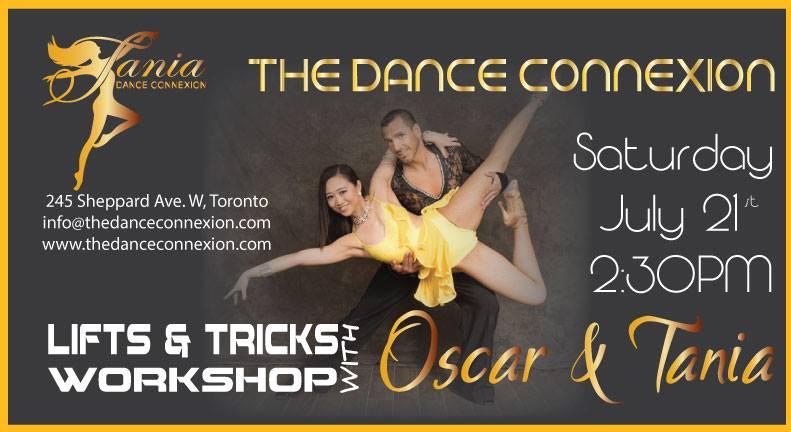 Summer Workshop Series Encore: Lifts & Tricks Workshop with Oscar & Tania – Aug 11