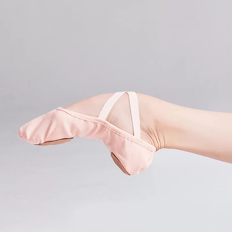 High Stretch Canvas Split Sole Ballet Slippers $25